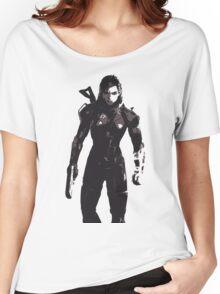 Minimalist Female Shepard from Mass Effect Women's Relaxed Fit T-Shirt