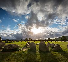 Evening Light at Castlerigg Stone Circle  by Jan Fialkowski