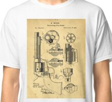 Colt Peacemaker Patent Art Blueprint Drawing Classic T-Shirt