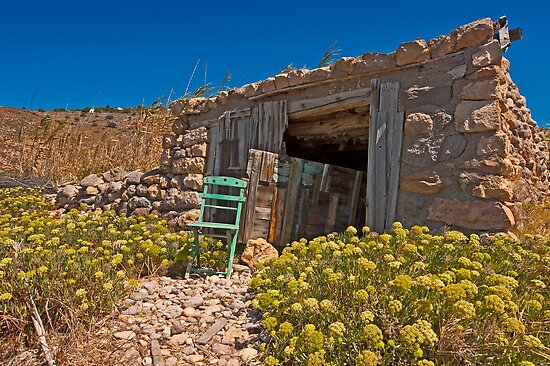 An abandoned boathouse in Patmos Island by Konstantinos Arvanitopoulos