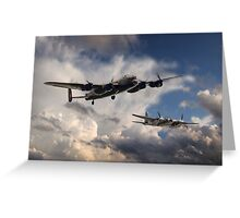 Lancaster and Mosquito Legends Greeting Card