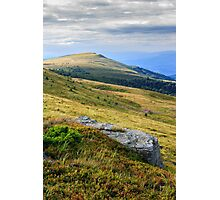 stone at the way to far away mountain Photographic Print