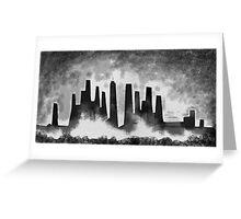 Desolate city Greeting Card