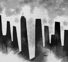Desolate city Sticker
