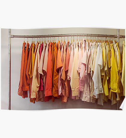 Clothing Rack With Shirts Poster