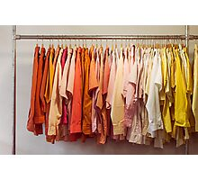Clothing Rack With Shirts Photographic Print