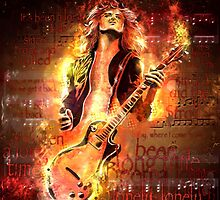 Jimmy Page - Rock and Roll by uberdoodles