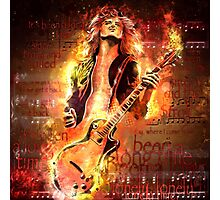 Jimmy Page - Rock and Roll Photographic Print