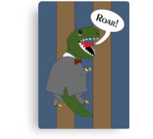 Male T-Rex Dinosaur in Suit Canvas Print