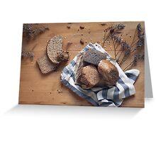 Brown Bread Still Life Greeting Card