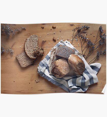 Brown Bread Still Life Poster