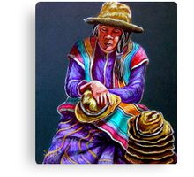 """Hats For Sale"" Canvas Print"
