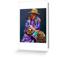 """""""Hats For Sale"""" Greeting Card"""