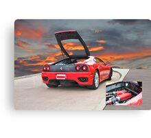 2001 Ferrari F1 360 Spider III w/Eng Detail Canvas Print