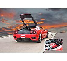 2001 Ferrari F1 360 Spider III w/Eng Detail Photographic Print
