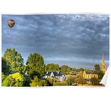 Balloon over Strathaven Poster