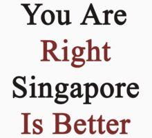 You Are Right Singapore Is Better  by supernova23
