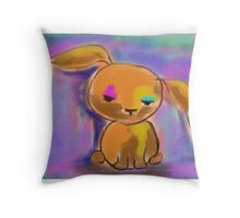 I am a rabbit II Throw Pillow