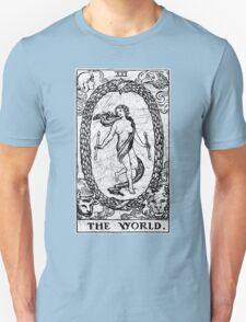 The World Tarot Card - Major Arcana - fortune telling - occult T-Shirt