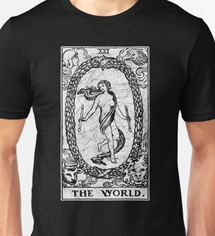 The World Tarot Card - Major Arcana - fortune telling - occult Unisex T-Shirt
