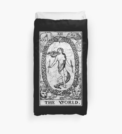 The World Tarot Card - Major Arcana - fortune telling - occult Duvet Cover