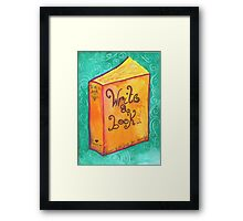 Write a book Framed Print