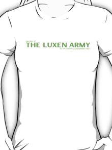 The LUXEN Army T-Shirt (green text) T-Shirt