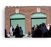 Fenway Park - Fans and Locked Gate Canvas Print
