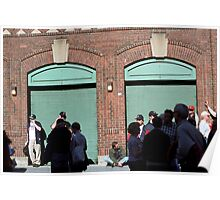 Fenway Park - Fans and Locked Gate Poster