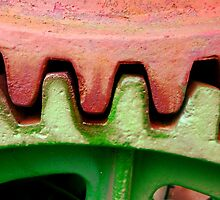 Gears On The Nichols & Shepard Steam Tractor by WildestArt