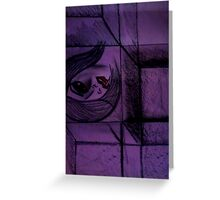 horror picture in cube Greeting Card