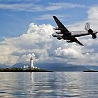 Shackleton over Lismore lighthouse by Gary Eason