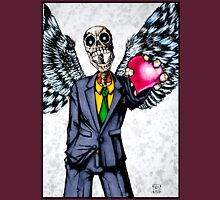 Suit wearing, winged, skeleton holding his heart.... Unisex T-Shirt