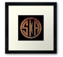 Cool Ska Rusty Ring Framed Print