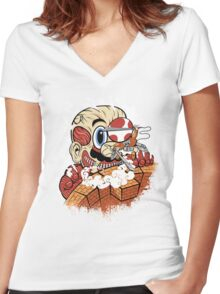 Attack On Plumber Women's Fitted V-Neck T-Shirt