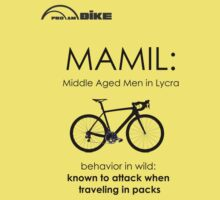 Cycling T Shirt - MAMIL (middle aged men in lycra) Behavior by ProAmBike