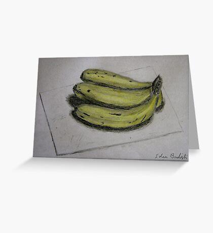 Bananas Sketch - Still Life Greeting Card
