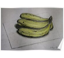 Bananas Sketch - Still Life Poster