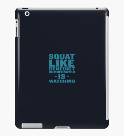 Squat like benedict cumberbatch is watching iPad Case/Skin