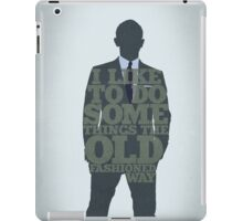 Skyfall - James Bond: The Old Fashioned Way iPad Case/Skin