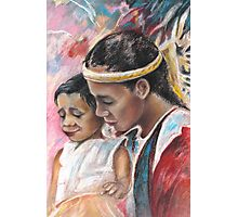 Young Polynesian Mother with Child Photographic Print