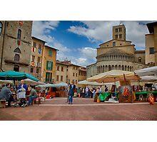 Arezzo Market Day Photographic Print
