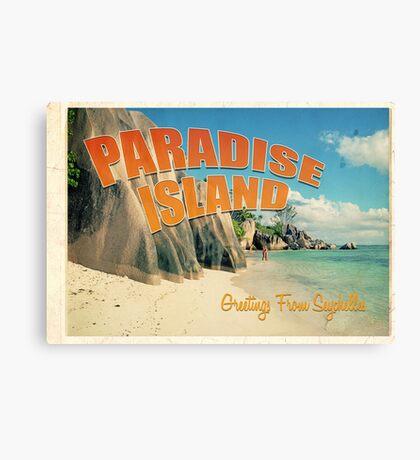Seychelles paradise Canvas Print