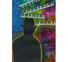 Music on His Mind Photographic Print
