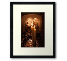 Church Candles Framed Print
