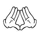 Dope Hands Triangle by TinaGraphics