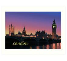 London city night lights Art Print