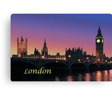 London city night lights Canvas Print