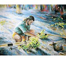 Tahitian Banana Carryer Photographic Print