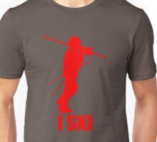 I Ski Red Unisex T-Shirt